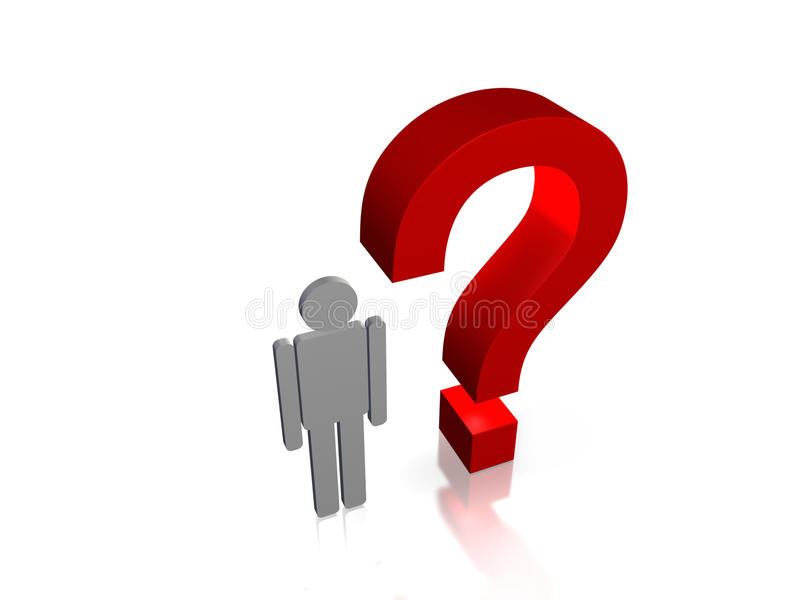 Download Pytanie ilustracji. Ilustracja złożonej z problemy, wymiarujący - 13325480