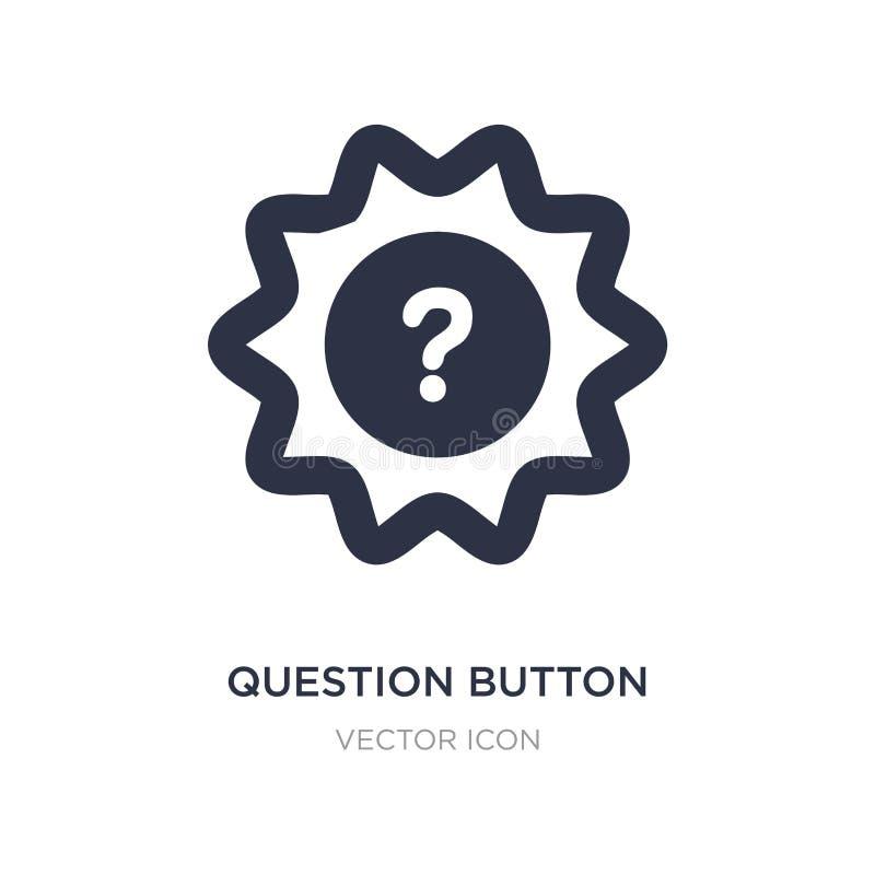pytanie guzika ikona na białym tle Prosta element ilustracja od UI pojęcia royalty ilustracja