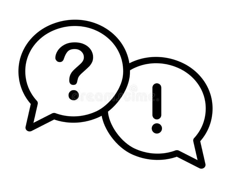 Pytanie i odpowiedź mowy bąble royalty ilustracja
