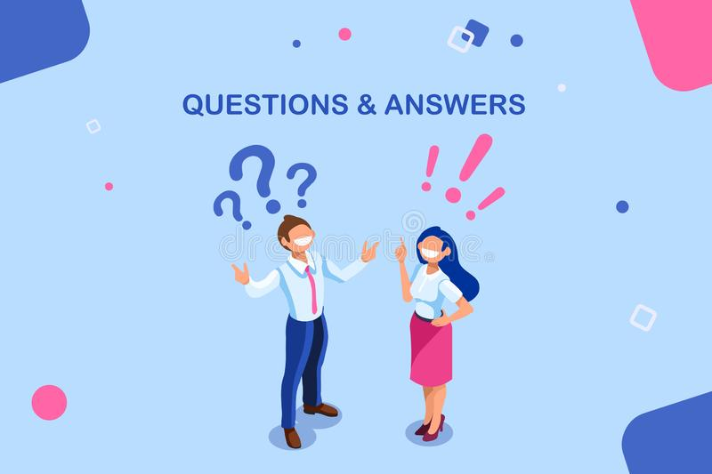 Pytanie I Odpowiedź Trwają obruszenie royalty ilustracja