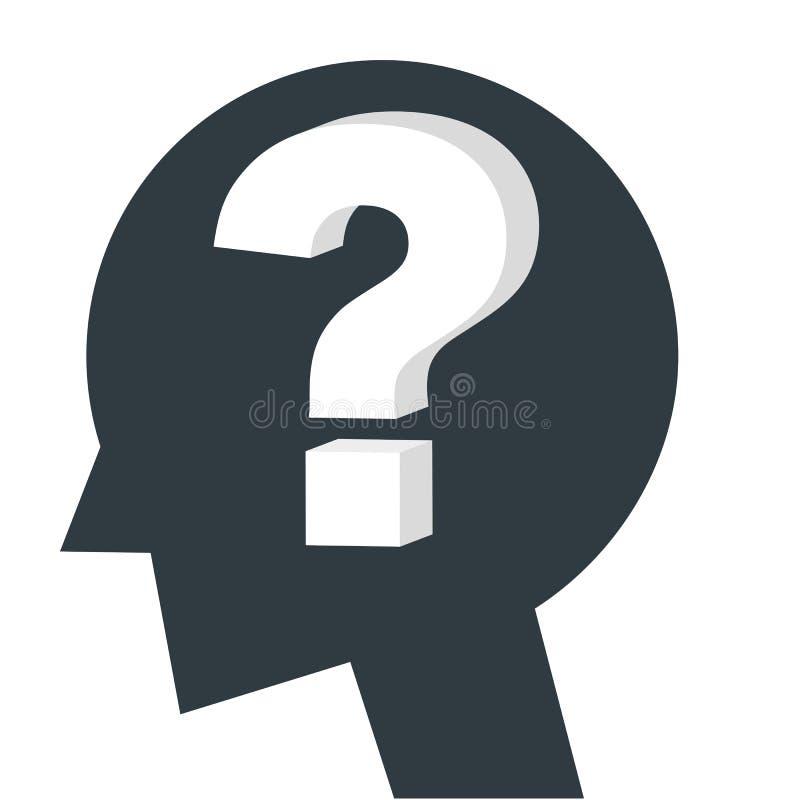 Pytanie ikona, wątpliwość wektor royalty ilustracja