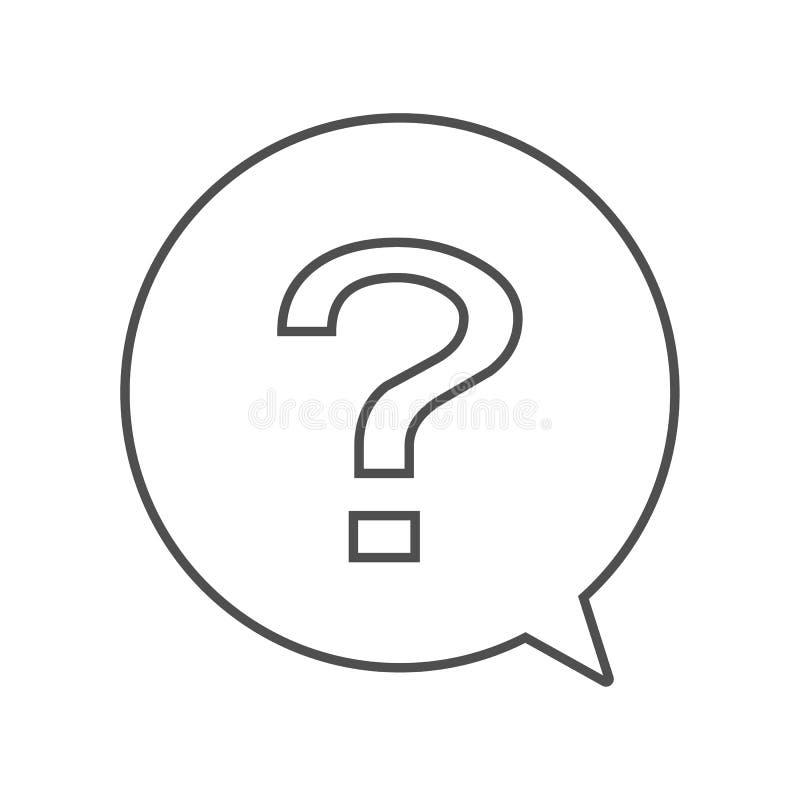 Pytanie konturu ikona w okrąg gadki znaka wektorze eps10 Pytanie uwaga w okręgu ilustracja wektor