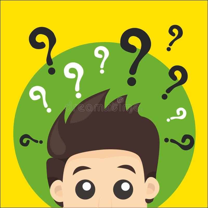 Pytanie mężczyzna ilustracja wektor
