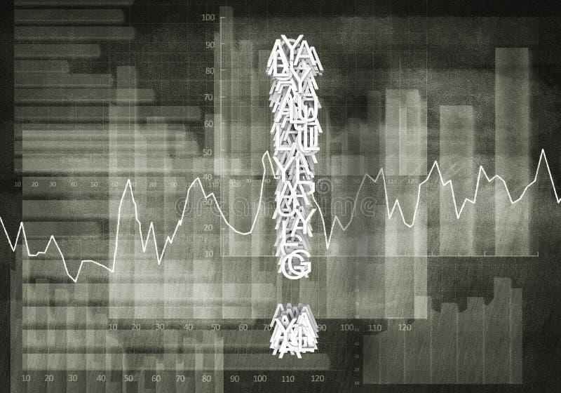 Pytanie pieniężny przyrost, 3d rendering ilustracji