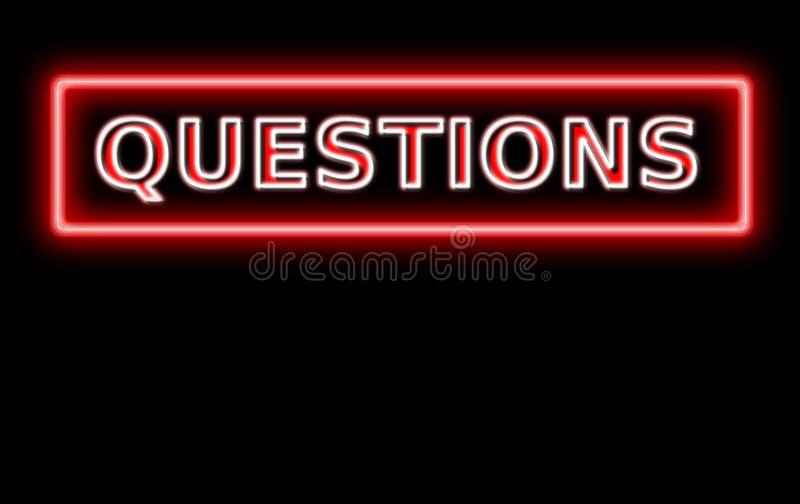 pytanie znak neon ilustracji
