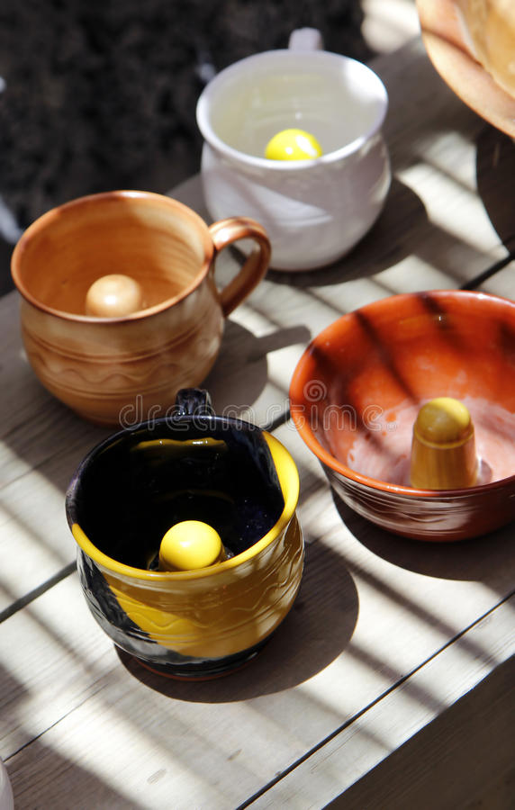 Pythagoras Cups stockfoto