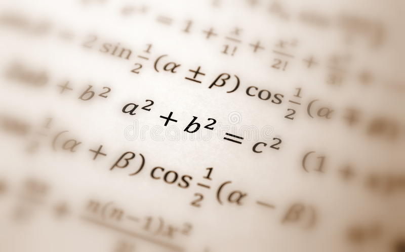 Download Pythagoras equation stock illustration. Image of isolated - 11856634