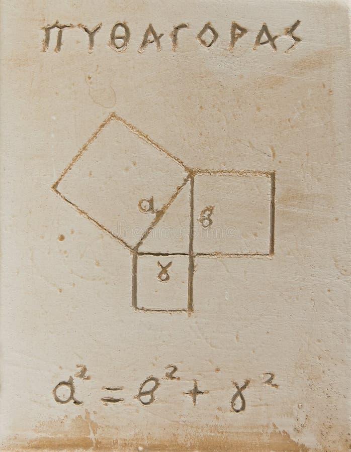 Pythagorean theorem royalty free stock photo