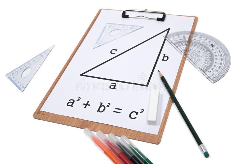 Pythagorean Theorem. stock image