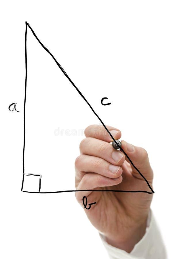 Pythagorean theorem royalty free stock photography