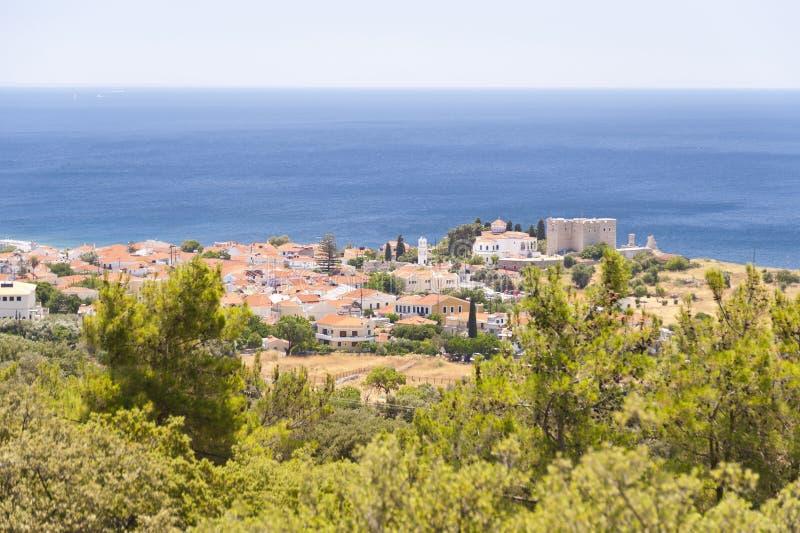 Pythagorio on Samos. In Greece stock photo