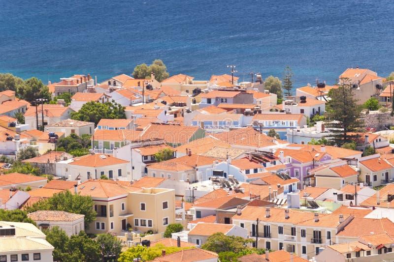 Pythagorio on Samos. In Greece royalty free stock image