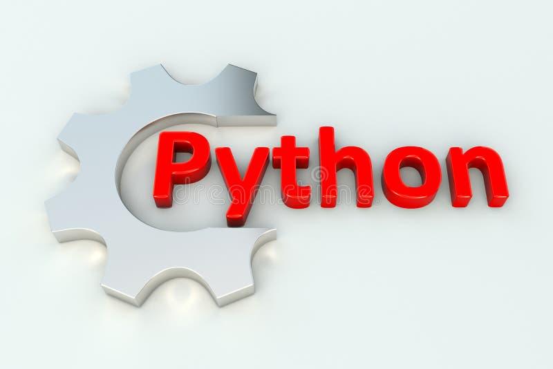 python illustration stock