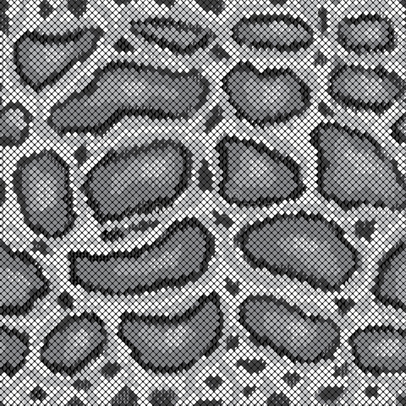 Free Python Pattern In Grey Royalty Free Stock Images - 23624919