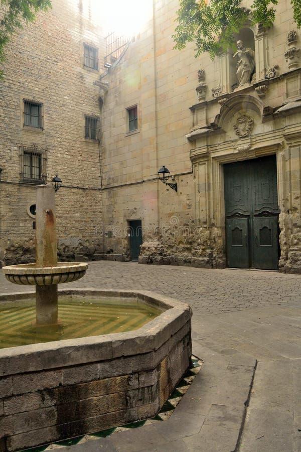 Pza Sant Felip Neri fotografia stock