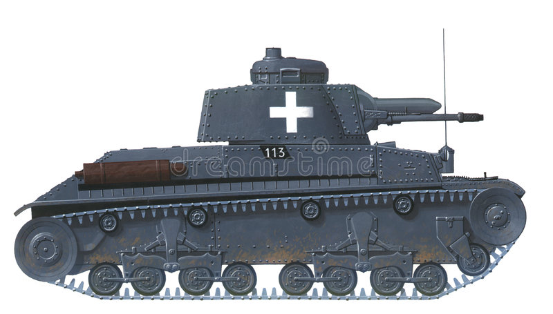Download PzKpfw 35 (t) stock illustration. Image of army, grey - 2496418
