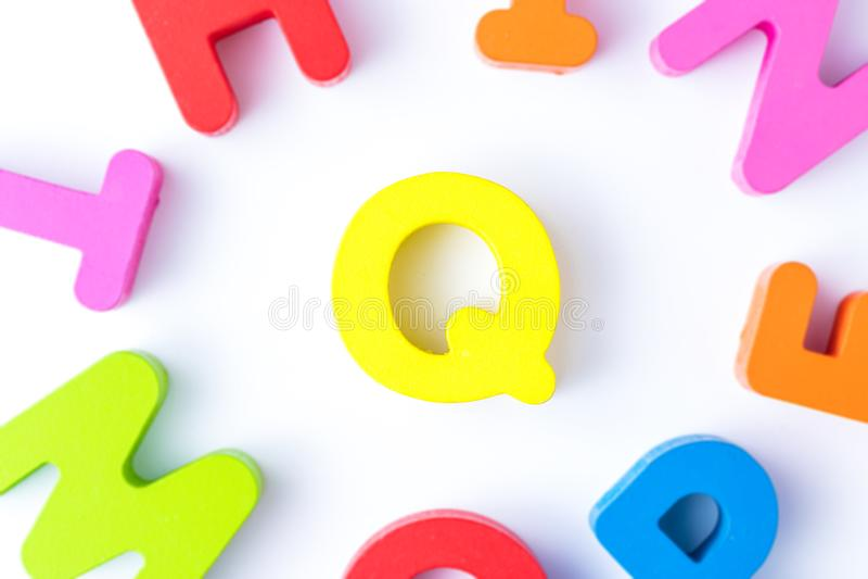 Q信件用英语 图库摄影