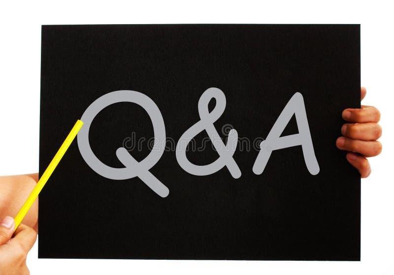 Q&A ο πίνακας σημαίνει τις απαντήσεις ερωτήσεων ελεύθερη απεικόνιση δικαιώματος