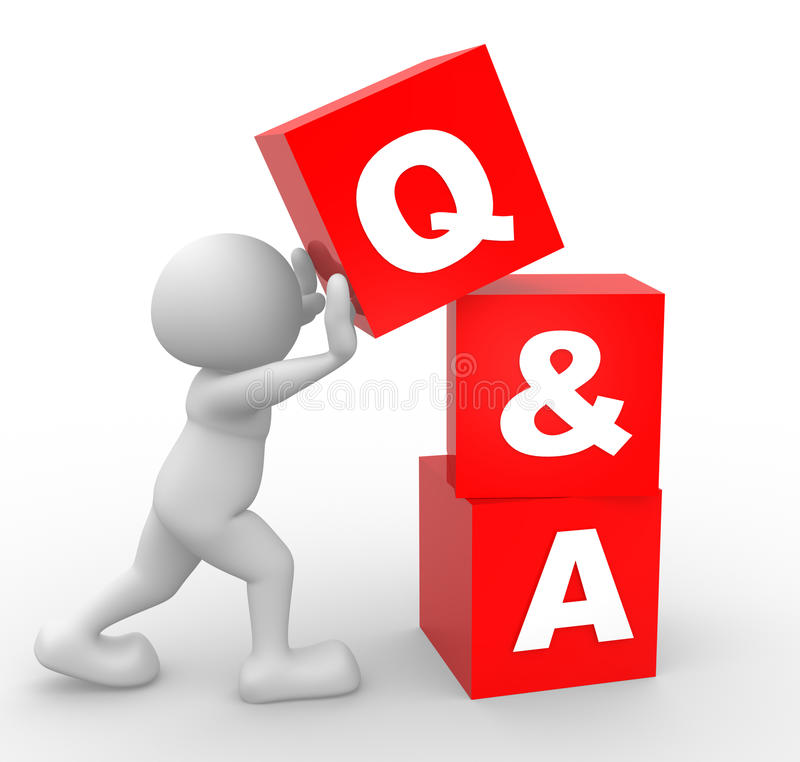 Q&A stock illustration