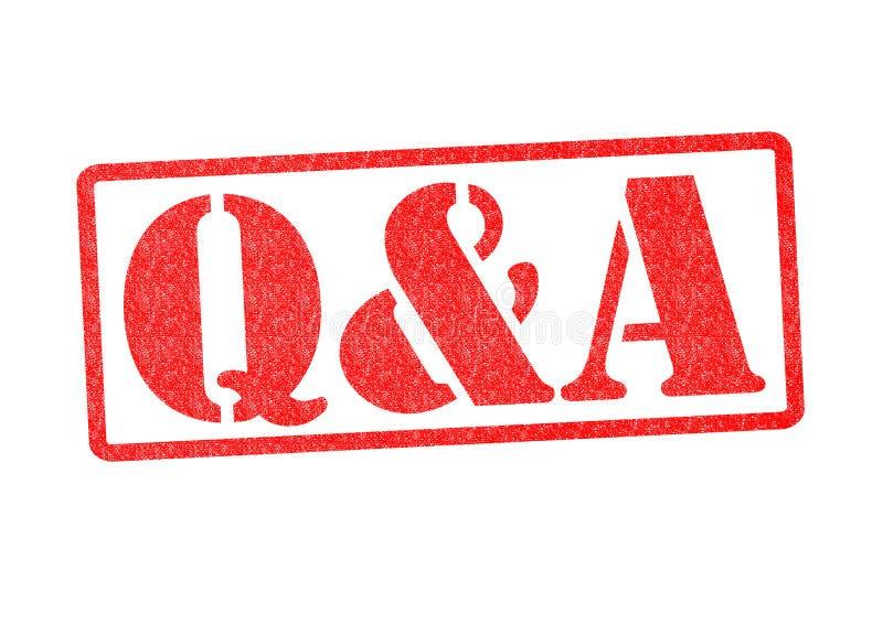 Q&A стоковые фотографии rf