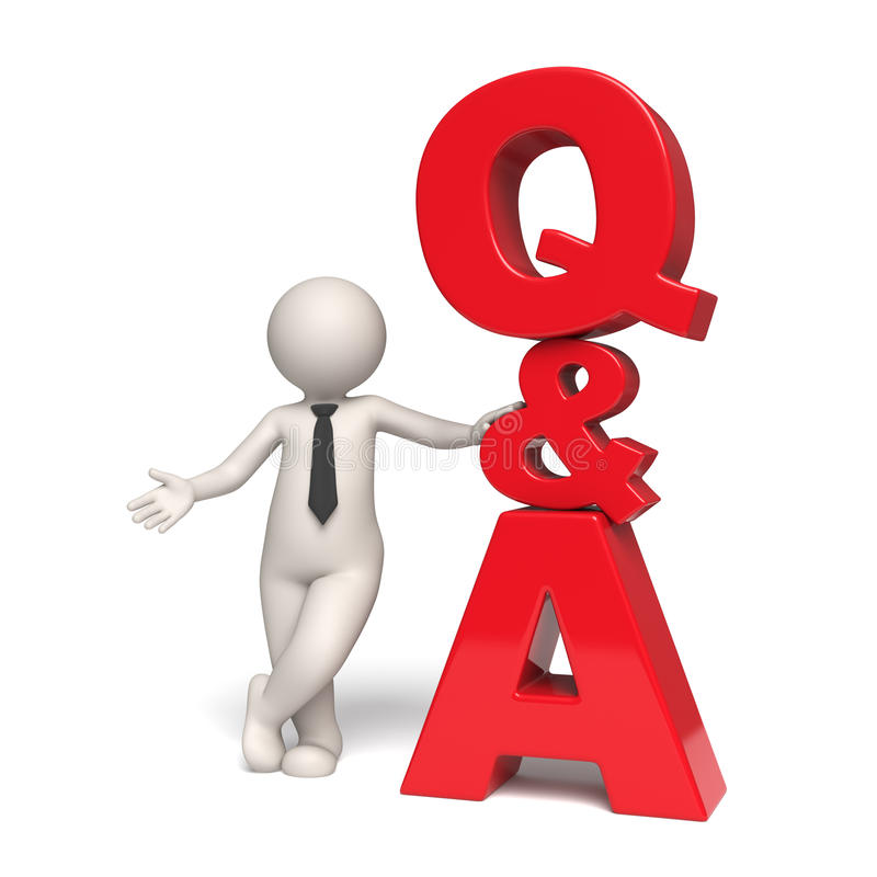 Free Q&A Icon - Questions And Answers - 3d Man Stock Photo - 19473030