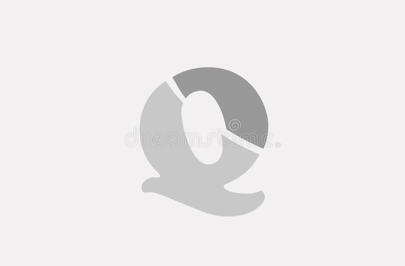 q alphabet letter logo icon template company stock vector