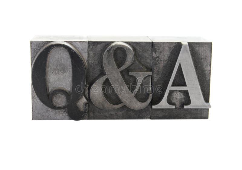 Q&A imagens de stock