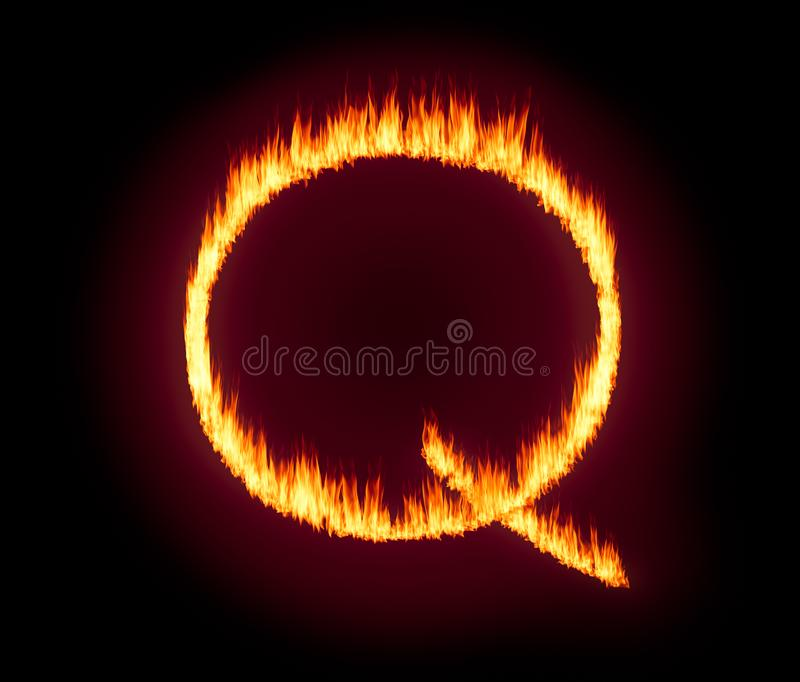Q Anon deep state conspiracy concept formed from flames vector illustration