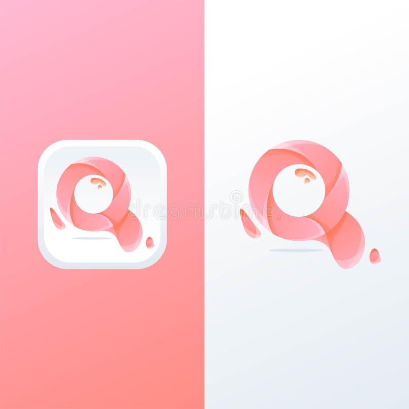 Q-bokstavslogo som är klar att använda vektor illustrationer