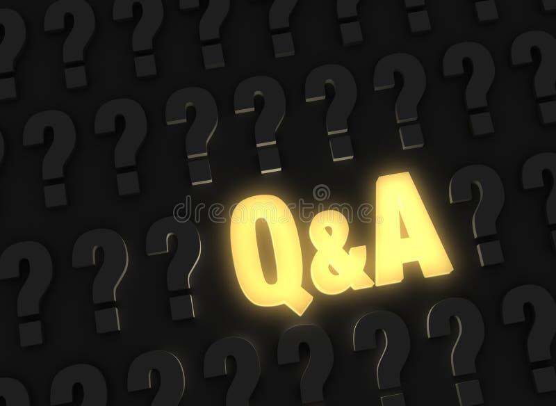 Q&A brillantemente que brilla intensamente foto de archivo