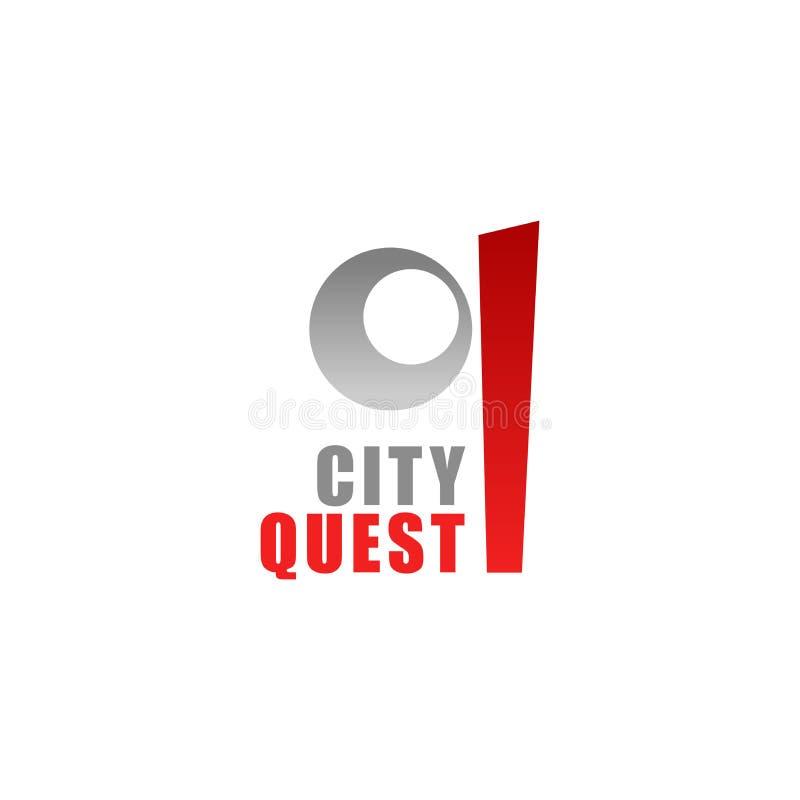 Q-Buchstabevektorikone für Stadtsuche vektor abbildung