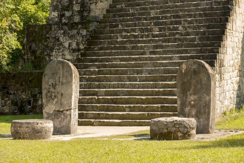 Q complexo Tikal arruina a Guatemala imagens de stock royalty free