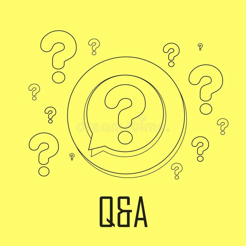 Q&A concept vector illustration