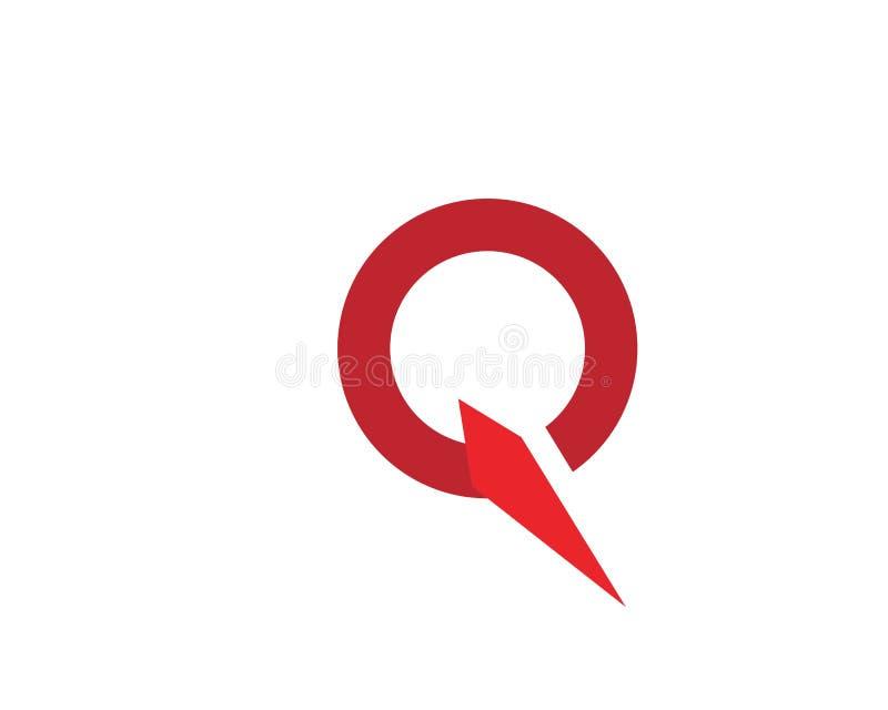 Q de vector van het Brievenpictogram vector illustratie