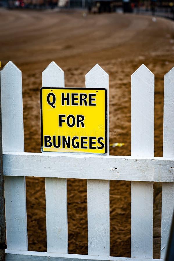 Q dla bungees znaka obraz stock