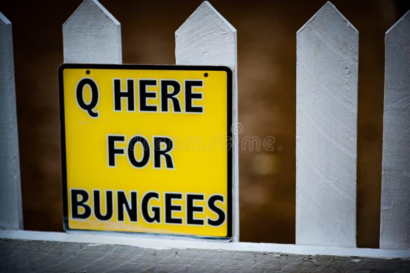Q dla bungees znaka obrazy stock
