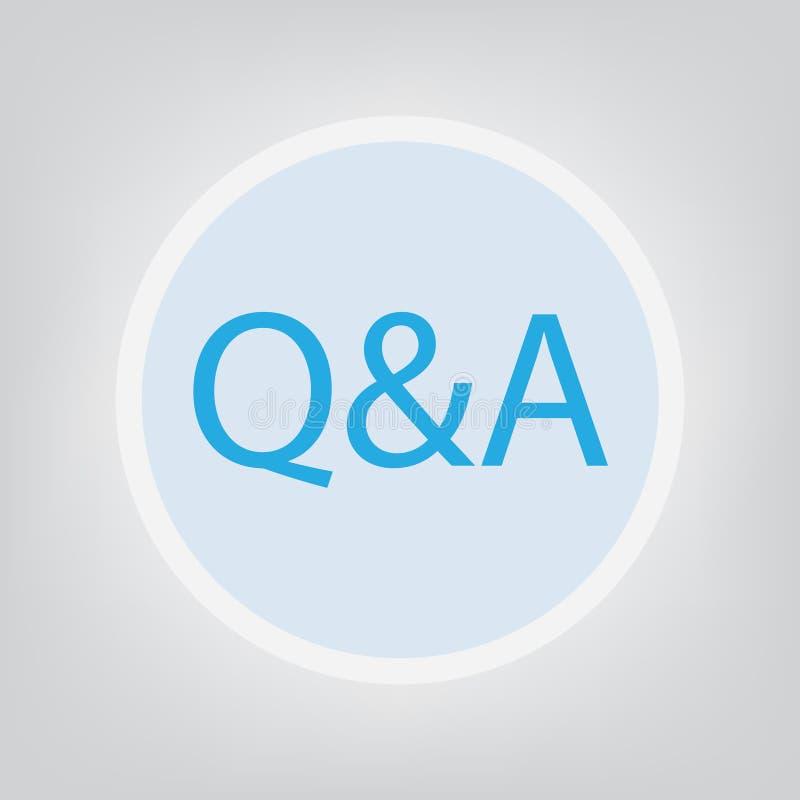 Q&a-frågor och svar royaltyfri illustrationer