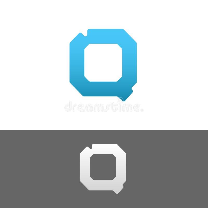 Q Letter Alphabet Abstract vector text logo template vector illustration