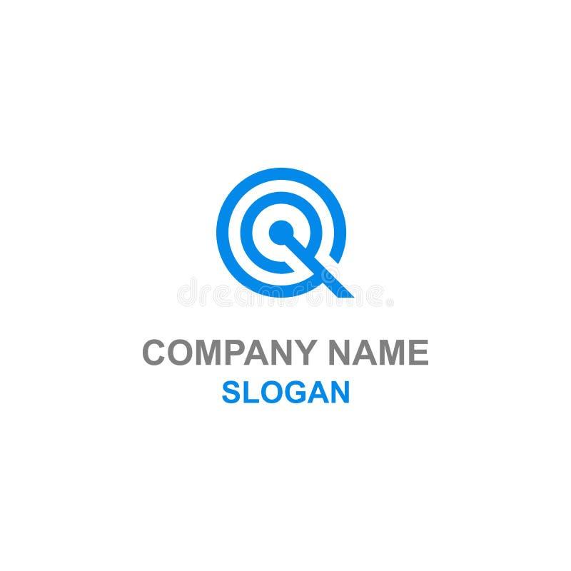 Q listu inicjału okręgu logo royalty ilustracja