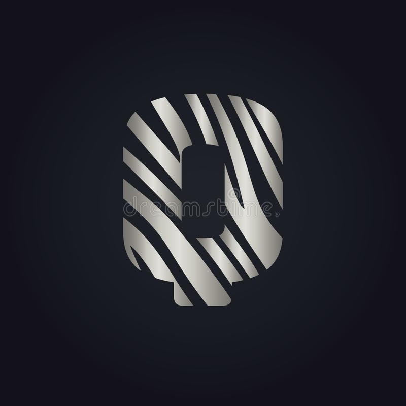 Q listu logo wektorowy projekt ilustracja wektor