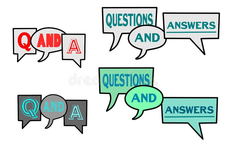 Q-and-A Question & Answer Speech Bubble Vector Illustrations vector illustration