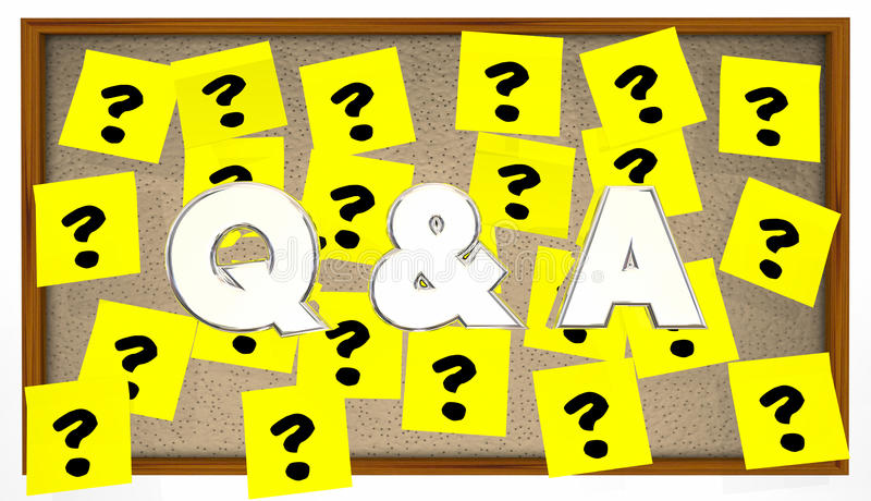 Q and A Questions Answers Sticky Notes Bulletin Board. Q and A Questions Answers Sticky Notes Ask Bulletin Board stock illustration