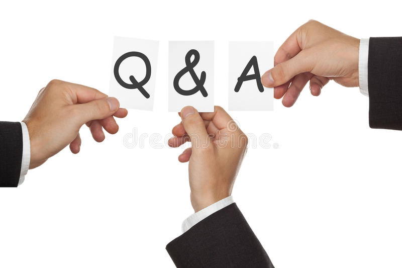Q&A session stock photography