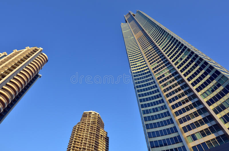Q1 wierza w złota wybrzeżu Queensland Australia fotografia stock