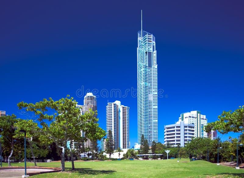 Q1 torretta, oro Coasst Australia immagini stock libere da diritti