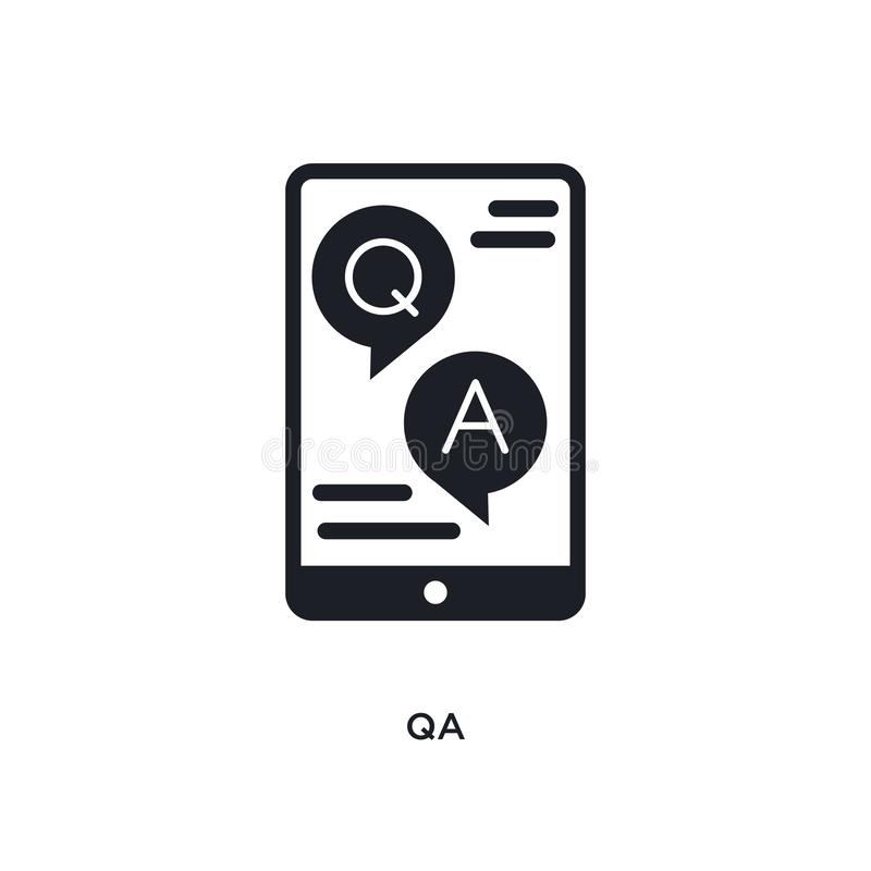 qa isolated icon. simple element illustration from e-learning and education concept icons. qa editable logo sign symbol design on vector illustration