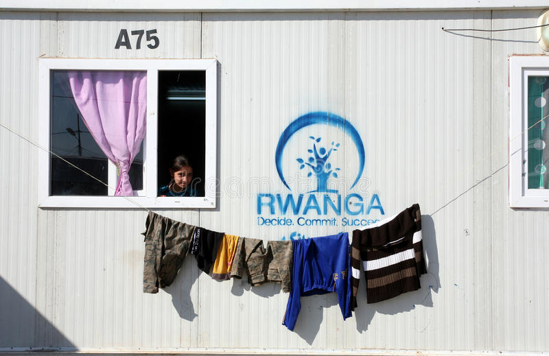 Qadia IDP obóz zdjęcie stock