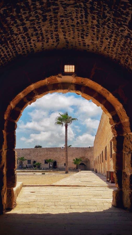 Qaitbay城堡在亚历山大 免版税库存图片