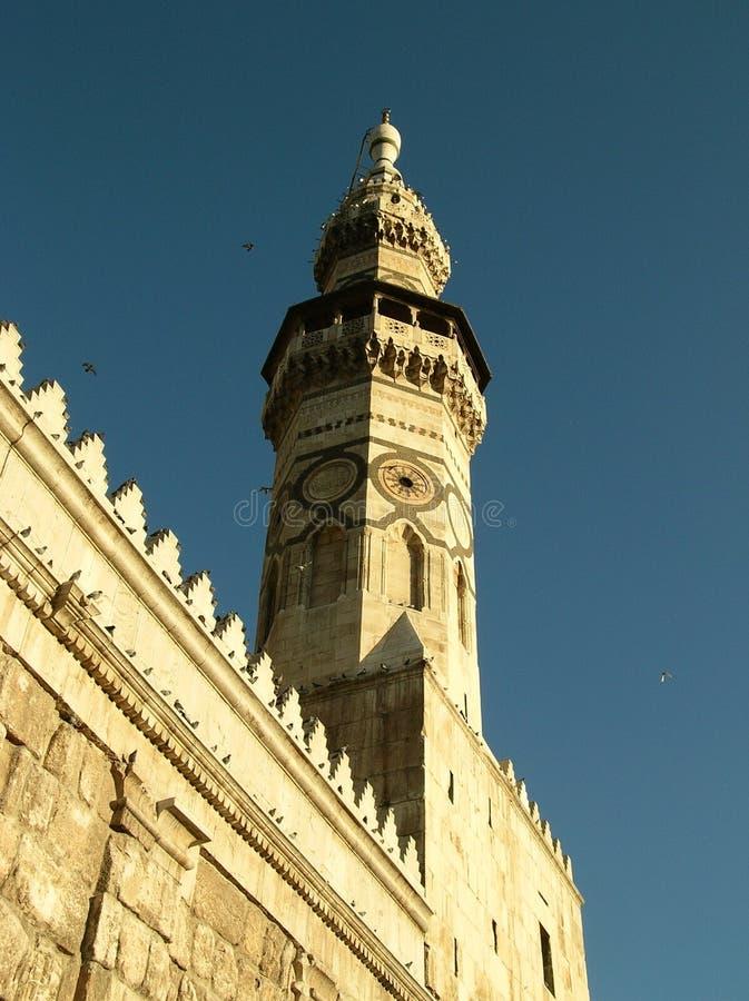 qaitbay umayyad för damascus minaretmoské arkivfoto
