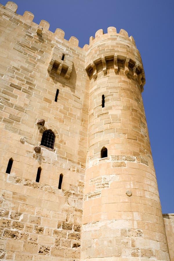 qaitbey крепости стоковые фотографии rf